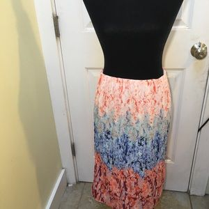 H&M faded colorful long skirt size 10 NWT